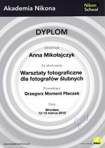 Akademia Nikona dyplom małe