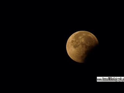 Zaćmienie Księżyca fot. Anna Mikołajczyk